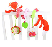 Baby Rattle Toys Animal Fox Newborn Infant Teether Baby Plush Toys Bed Stroller Car Hanging Play