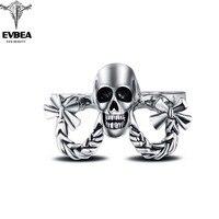 Hip Hop Rock Boho Silver Punk Skull Big Adjustable Knuckle Three Fingernails Bikers Motorcycle Rings Men