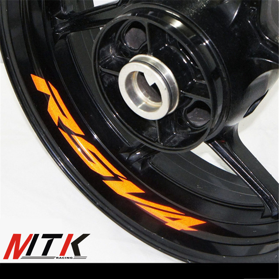 Image mtkracing rsv4 seven colors 8x custom inner rim decals wheel reflective stickers stripes fit aprilia