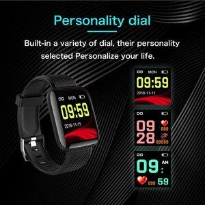Image 5 - Smart Uhr Männer Blutdruck Herz Rate Monitor Milanese Edelstahl Smart Armband Sport Fitness tracker Smart uhr + Box