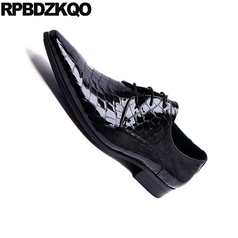 Serpiente Italiano Italia Partido azul Negro Cocodrilo Piel Azul Oxfords De Boda Hombres Zapatos Vestido Python Charol Negro Rd1qw6x8d