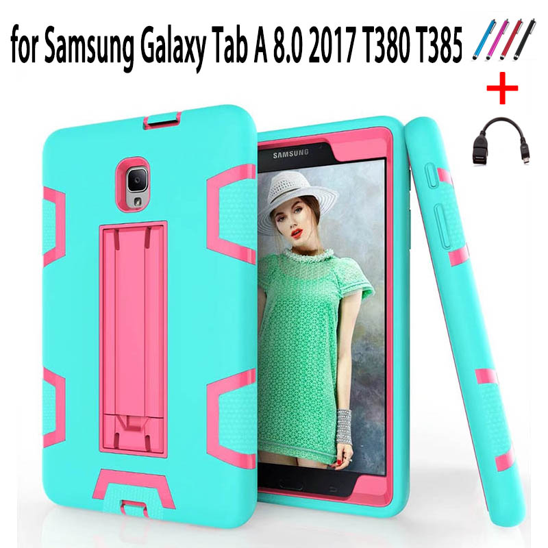 Case Galaxy Tab T380 Kids T385 Samsung For Full-Protective-Cover Safe A2