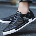 Men Outdoor Flat leather Casual Walking shoes breathable Net step fashion size 39-44 superstar chaussure homme sapato masculino