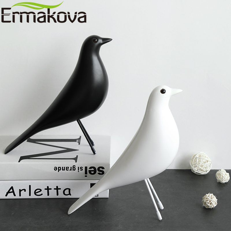 ERMAKOVA The Mid Century Bird Figurine House Bird Animal Statue Dove Of Peace European Mascot Home Bar Coffee Decor