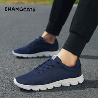 2018 New Casuals Shoe Breathable Mesh Mens Casual Shoes Adult Casuals Shoe tenis masculino adulto Blue Sneakers Men's Trainers