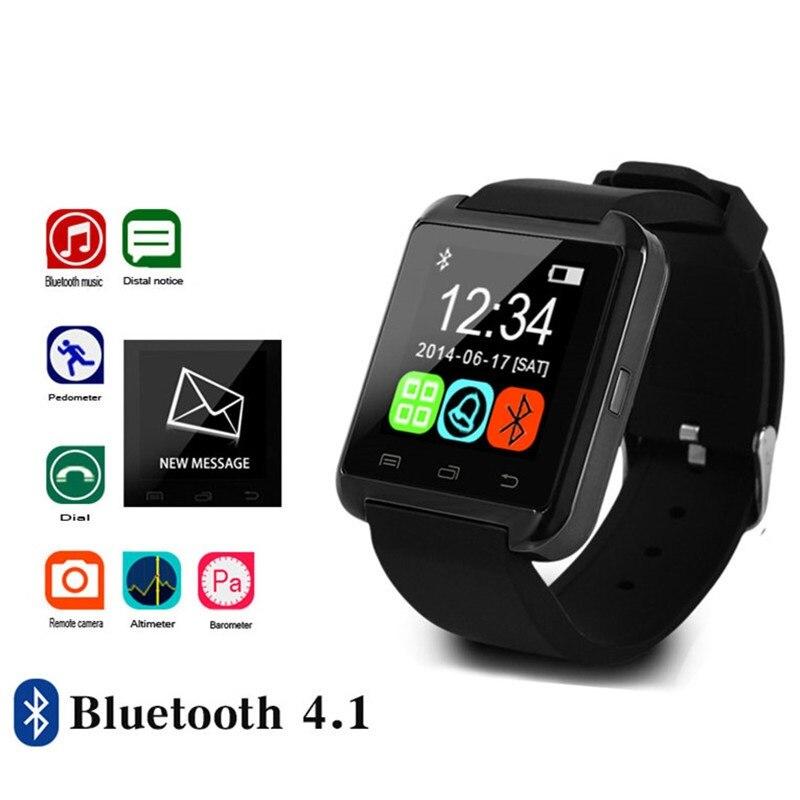 Montre intelligente Bluetooth Sport JQAIQ pour Iphone Ios Android téléphone intelligent horloge portable appareil montre intelligente Pk Gt08 Dz09