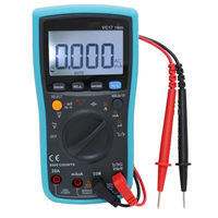 VC17 Handheld LCD Multimetro Digital Multimeter Backlight AC/DC Ammeter Voltmeter Ohm Tester Meter