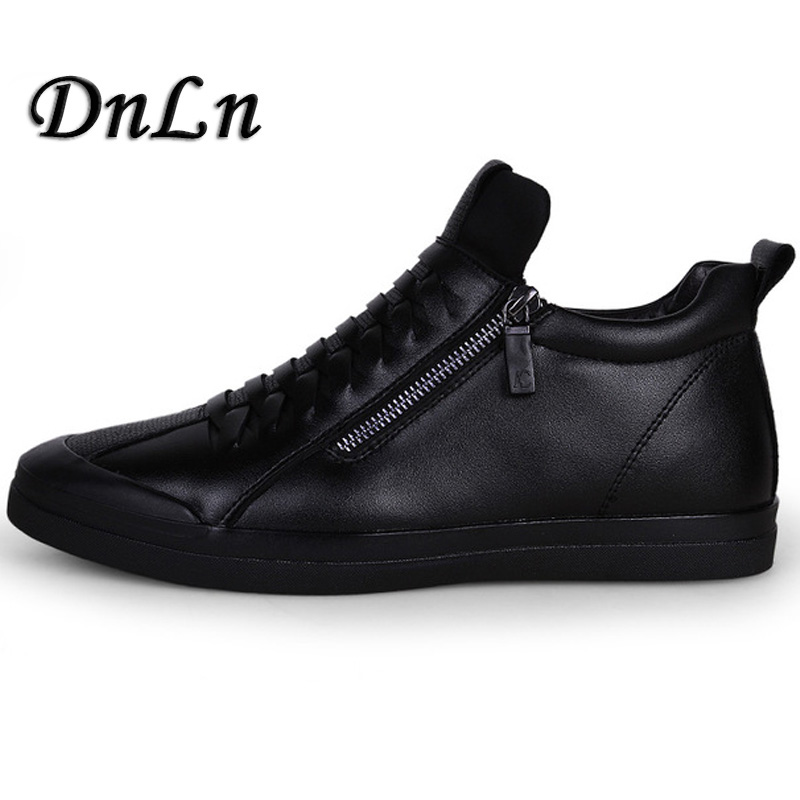 Mens Shoes Casual Fashion Designer Genuine Leather Shoes For Men Slip On Loafers Black Sneakers Winter Autumn Men's Shoes D50 mycolen mens loafers genuine leather italian luxury crocodile pattern autumn shoes men slip on casual business shoes for male