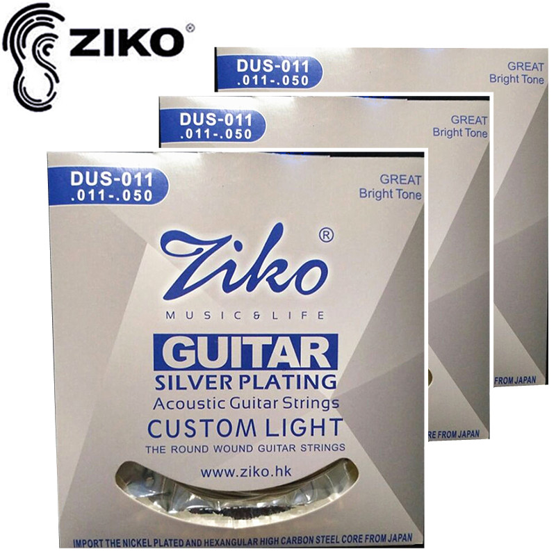 ZIKO DUS-011 011-050 Akusztikus gitár húrok gitár Kiegészítők alkatrészek nagykereskedelmi hangszerek 3sets / lot