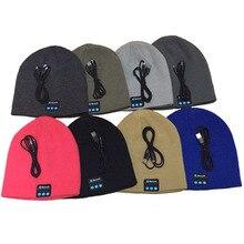 Smart Wireless Bluetooth Cap Headphone Headset Speaker Mic Soft Warm Beanie Hats