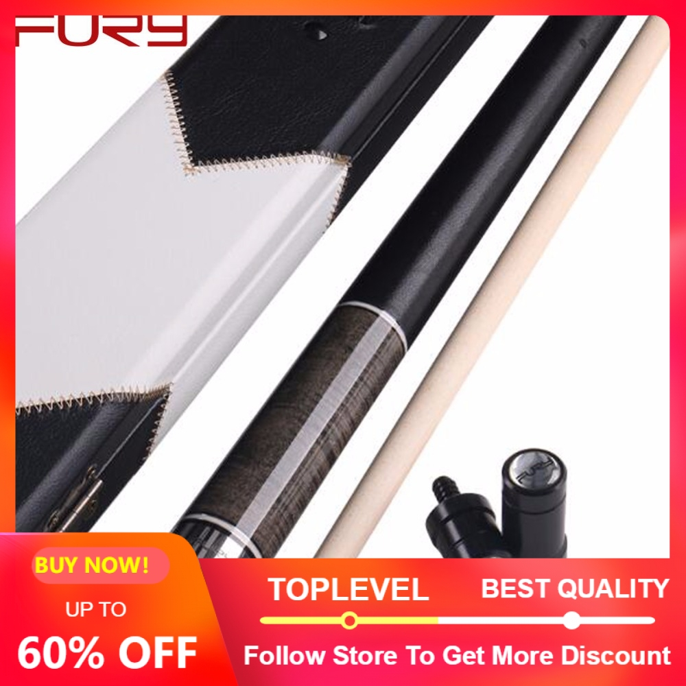 FURY 1 2 Pool Cue with Case Pool Cues Stick Kit 11 75mm 13mm Tip Billiard