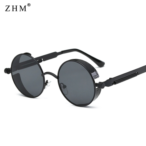 2019 Metal Steampunk Sunglasses Men Women Fashion Round Glasses Brand Design Vintage Sunglasses High Quality UV400 Eyewear Pakistan