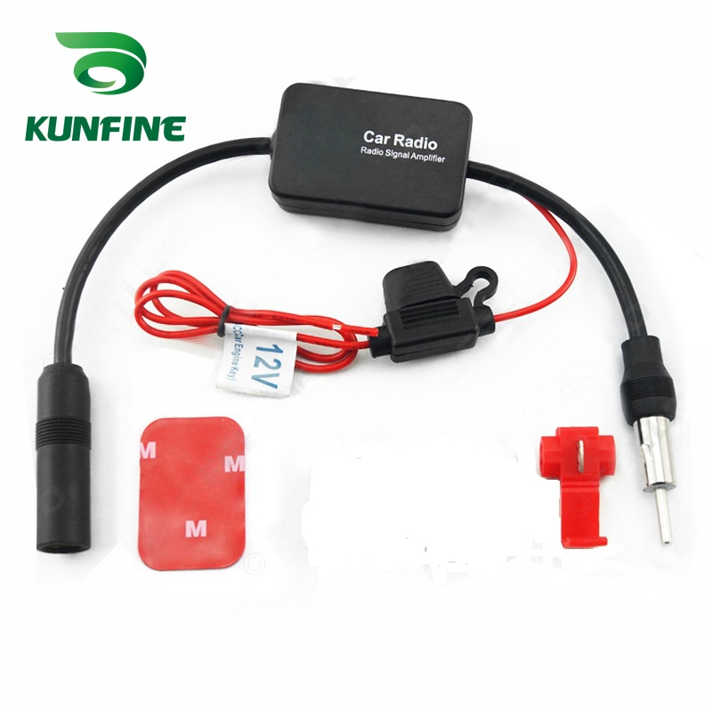 все цены на KUNFINE Universal Auto Car Radio FM Antenna Signal Booster Amplifier for Marine Car Vehicle Boat RV 12V Signal Antenna Enhance онлайн