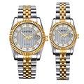 TEVISE Marca de luxo Diamante Relógios para Casais apaixonados Sapphire Ama Relógios Casais Par Relógio de Quartzo relógios de Pulso À Prova D' Água