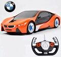 Rc Car 1:24 modelo de carro i8 4 CH simulação de controle remoto RC carro de brinquedo eletrônico veículo veículos coleção presente