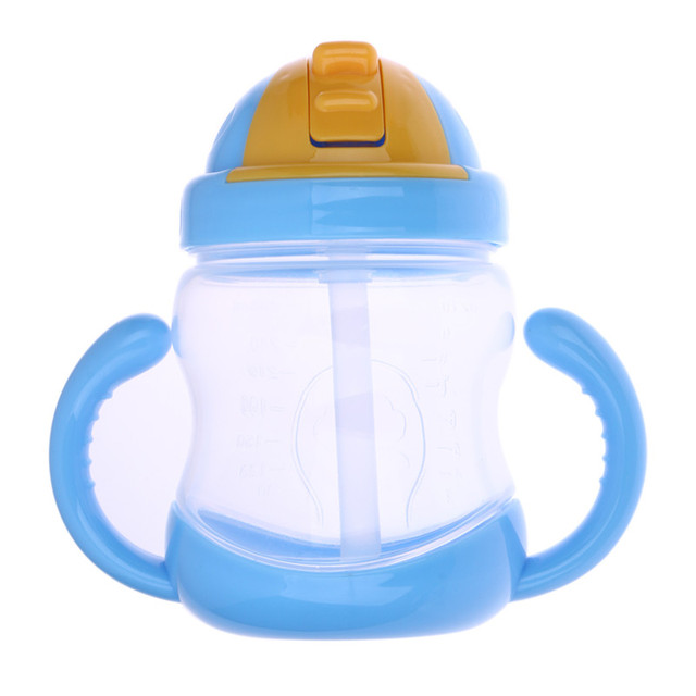280ml Cute Baby Straw Cup with Handle