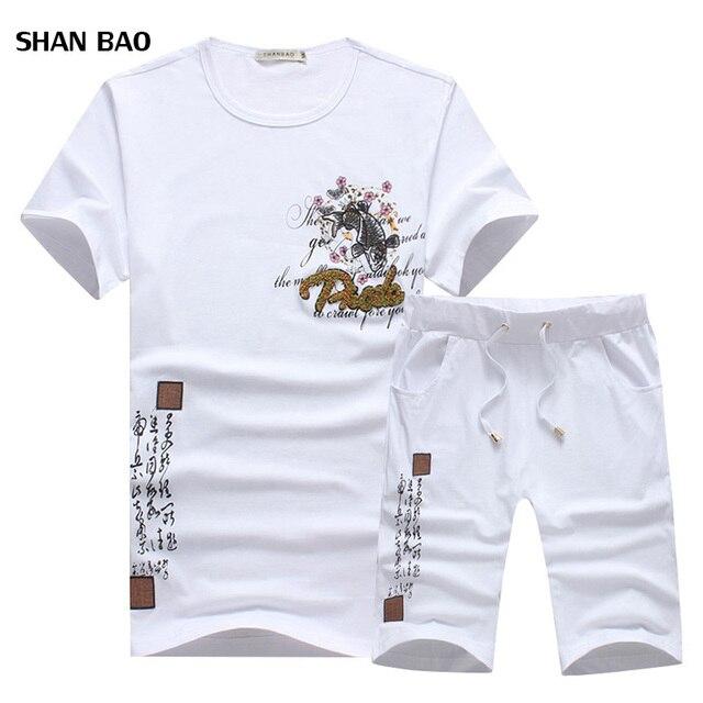 87cc860b7e5d New Fashion Sportsuit and Tee Shirt Set Mens T Shirt Shorts + Short Pants Men  Summer Tracksuit Men Casual Brand Tee Shirts 2018