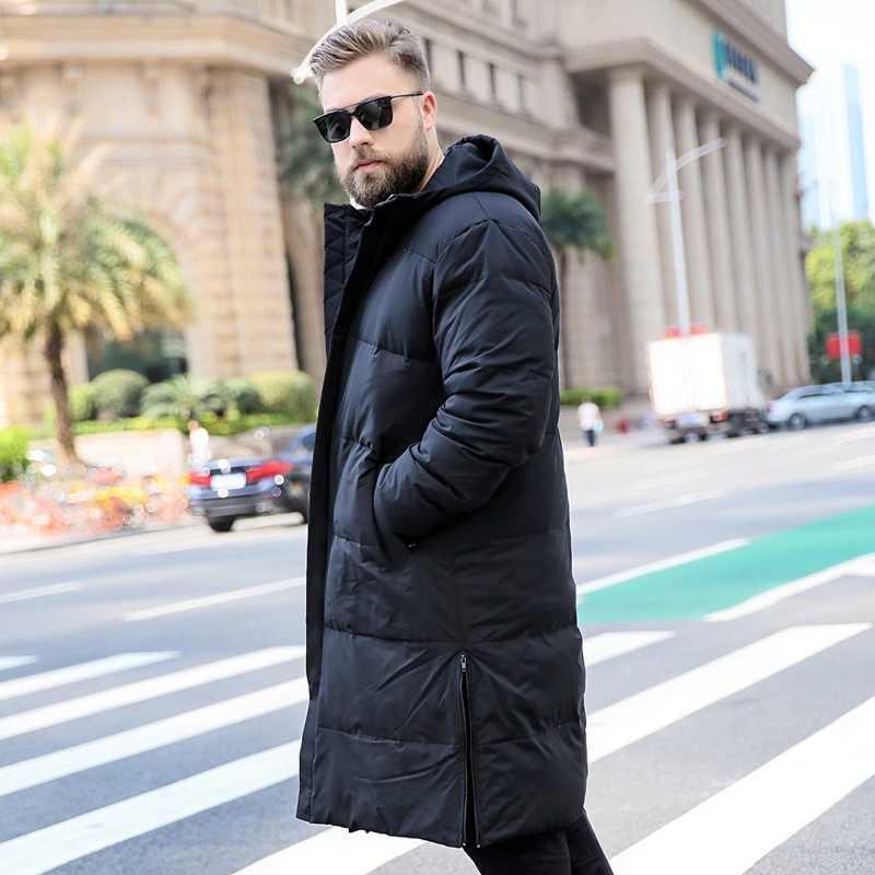 Мужская пуховая куртка новая мужская зимняя куртка с капюшоном большого размера теплое пуховое пальто 6XL 7XL 8XL 9XL 10XL