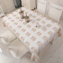 European lace table cloth, waterproof anti-scald dust-free disposable tablecloth, coffee dust cover