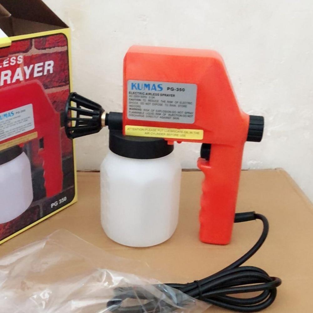 220 v 600 ml Pistola de Pintura Elétrica Pulverizador Pintura Airless Pulverizador Mini Pistola de Pintura Para Carros Móveis de Madeira Parede de Madeira