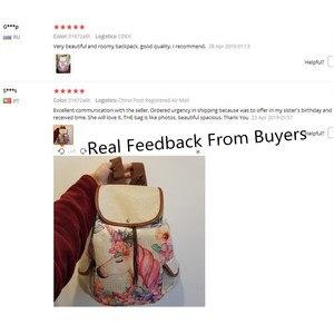 Image 5 - Miyahouse unicórnio impresso saco de viagem mochila lona feminina alta qualidade cordão material linho mochila