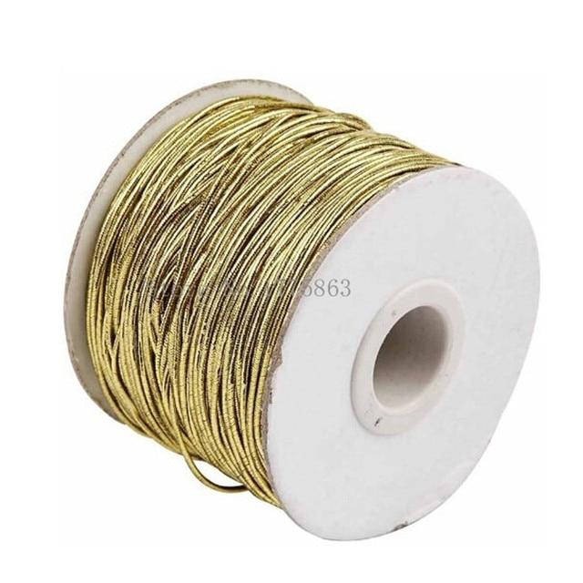 1mm Nähen Gold Elastische Schnur, dicke-1 rolle, 100 Meter AA7631
