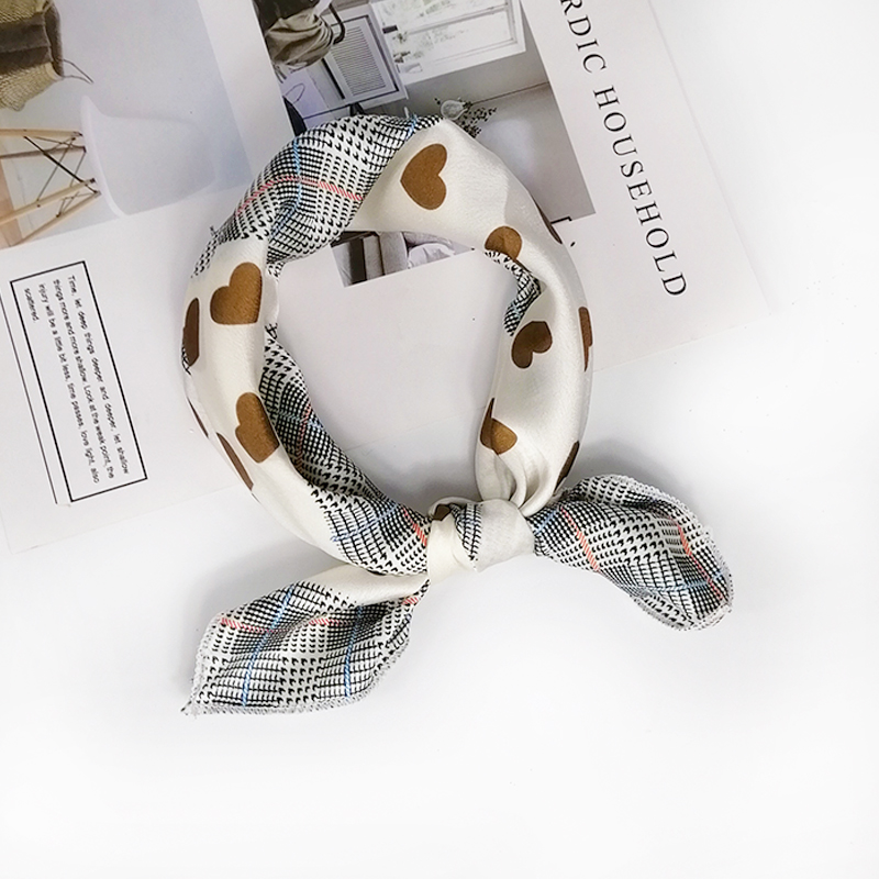 HTB1rdsqeRCw3KVjSZFuq6AAOpXaF - new style Square Scarf Hair Tie Band For Business Party Women Elegant Small Vintage Skinny Retro Head Neck Silk Satin Scarf