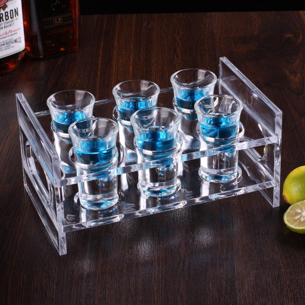 The glass shelf play cup wine rack 6 head 12 head holding frame ...