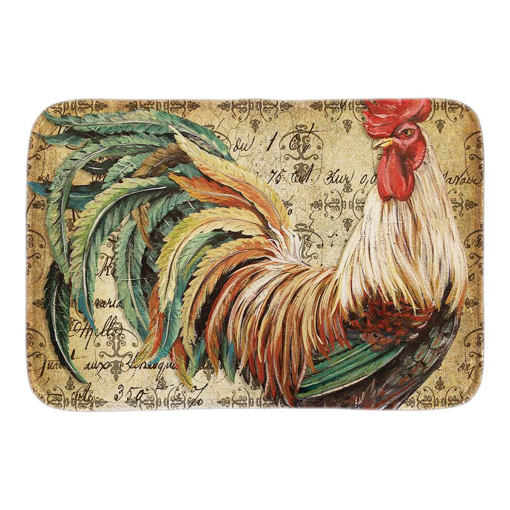 Home Entrance Doormat Decor With Animals Proud Rooster