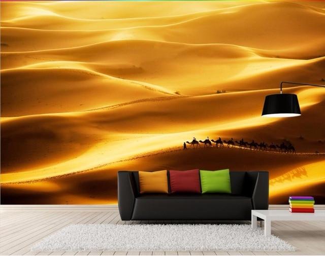 3d wallpaper custom photo mural camel desert gobi 3d wall murals