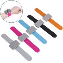 5 Colors Adjustable Magnetic Bobby Pin Bracelet Self Adhesive Wrist Band Magnetic Plate For Salon Hairstyling Clip Clamp Holder