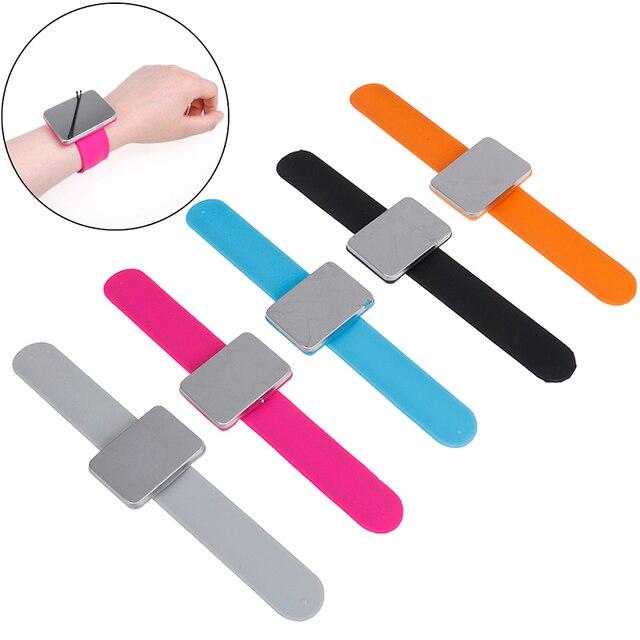 5 צבעים מתכוונן מגנטי בובי פין צמיד עצמי דבק להקת יד מגנטי צלחת עבור סלון עיצוב שיער קליפ קלאמפ מחזיק