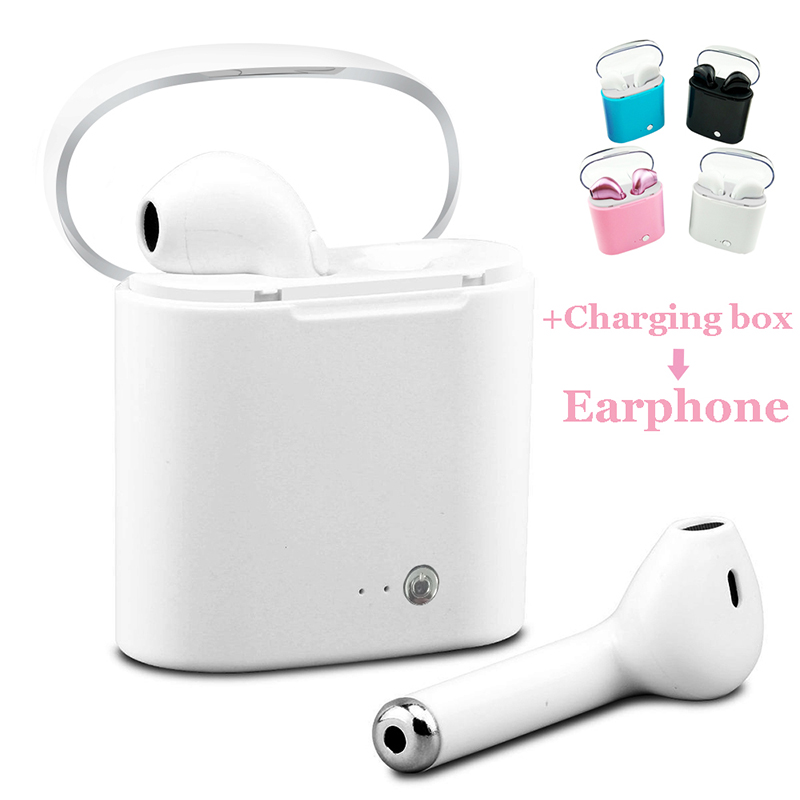 I7S Air Pods Bluetooth Earphone Twins Headphone Mini Sport Headset Music Buds Wireless Stereo Earphone Earpiece For Xiomi&iphone