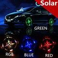 Acessórios Auto Colorida RGB flash Impermeável luzes led para carro jantes roda de energia solar lâmpada para mazda3 6 honda foco