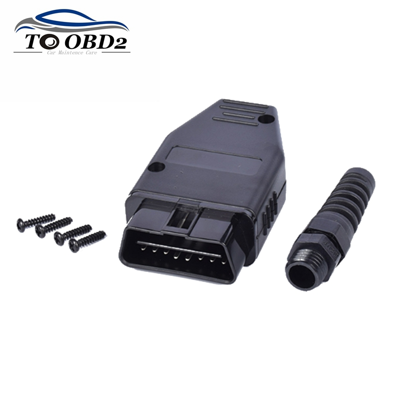 Car Diagnostic Tool OBD Male Plug 16Pin OBD2 Connector OBD 2 16 Pin OBD II Adaptor OBDII J1962  Connector Best Price