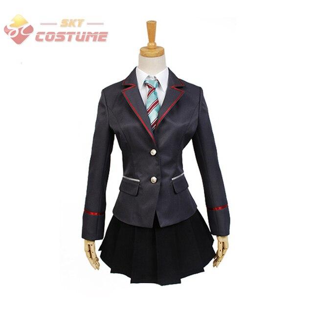 Anime Vocaloid Project DIVA-F 2nd Miku Cosplay Uniform Coat Skirt Halloween Cosplay Costumes Custom Made For Women Full Set