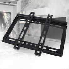 ユニバーサル薄型 25 キロ黒テレビウォールマウントブラケットフラットパネルテレビフレームと測斜計 14 42 インチ液晶ledモニタフラットパン