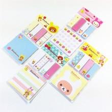20 sztuk/partia nowy cute cartoon rilakkuma style notatnik/sticky note Memo/wymienny papier/sprzedaż hurtowa