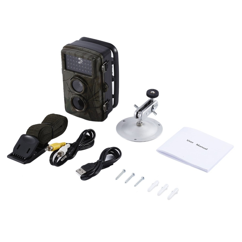 Time Lapse Trail Hunting Camera Wildlife Camera With 12 MP HD 65ft Infrared Night Vision 34pcs Scouting Camera Digital cam