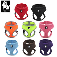Truelove Puppy Cat Pet Dog Harness Breathable Mesh Nylon Dog Harness Strap Soft Walk Vest Collar