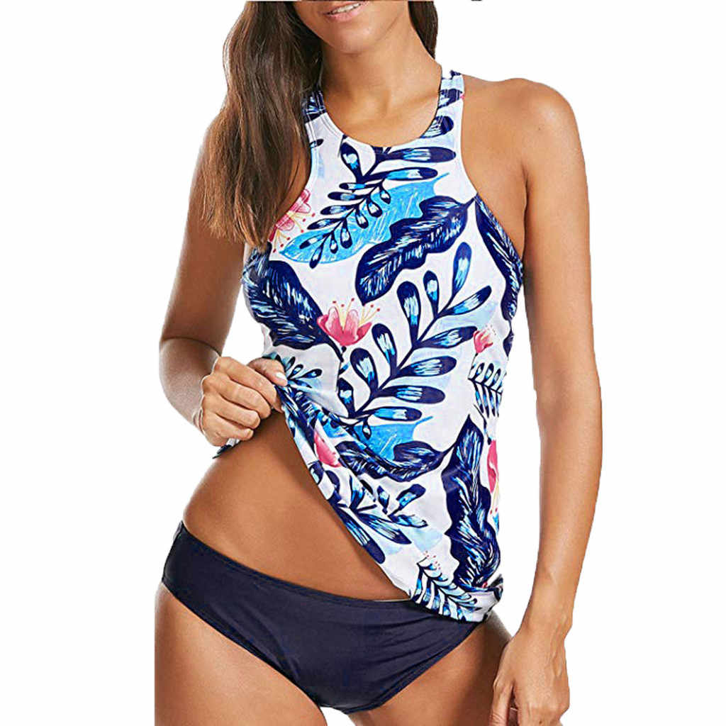 7d84514acad Detail Feedback Questions about 2019 Tropical Tankini Set Swimsuit ...