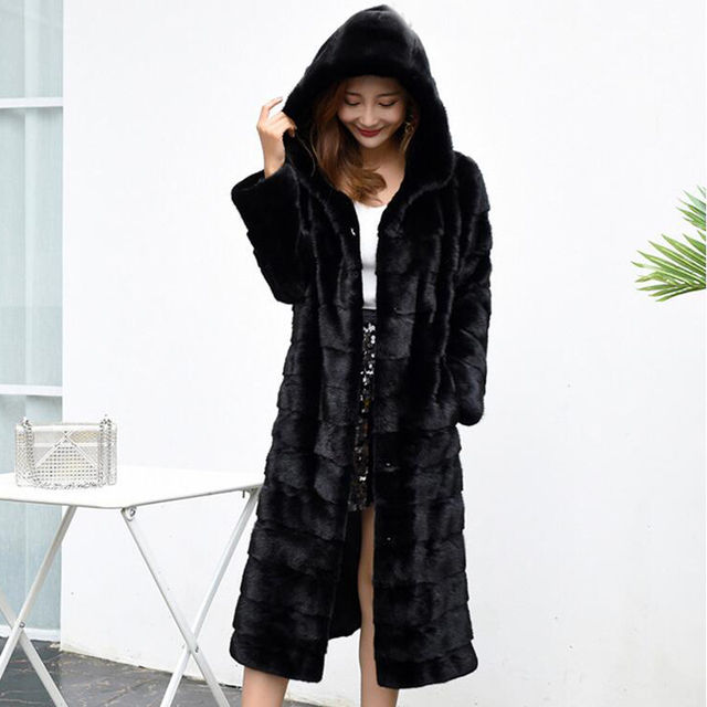 Luxury Long Customize Plus Size Factory Real Price Genuine Rabbit Real Fur Coat Women Fur Jacket New Winter sr587 1