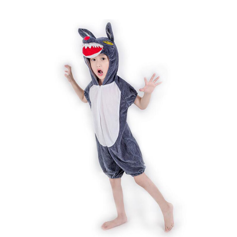 Animal Small Mouse Cosplay Costume Boy Girl Child Cartoon Pajama Gray Short Sleeve Funny Suit Halloween Carnival Jumpsuit Kids Home