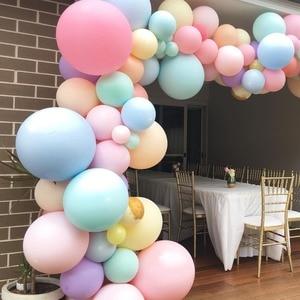 Image 1 - Pastel Macaron Balloon Arch Set Wedding Bridal Shower Party Backdrop Decoation Wall Organic Balloons Garland