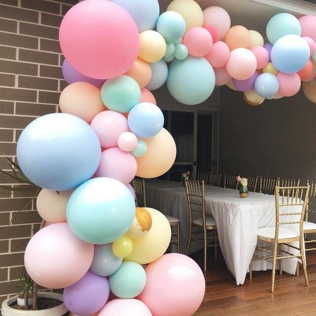 Pastel Macaron Balloon Arch Set Wedding Bridal Shower Party Backdrop Decoation Wall Organic Balloons Garland