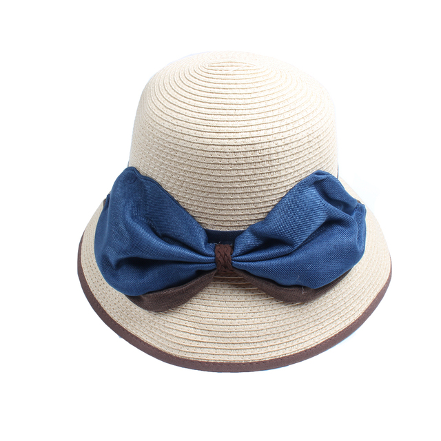 c60556e5765 Difanni Fashion Summer Hats For Women Wide Brim Fabric Sun Hat Visor Panama  Straw Bucket Hat