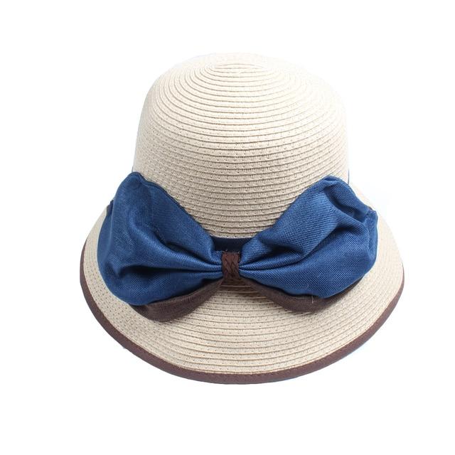 b3f8538d866 Difanni Fashion Summer Hats For Women Wide Brim Fabric Sun Hat Visor Panama  Straw Bucket Hat Beach Travel Chapeu