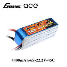 Gens ace Lipo Battery 22.2V 4400mAh Lipo 6S 45C RC Battery Pack EC5 Plug for Goblin 500 Helicopter Quadcopter Aircraft