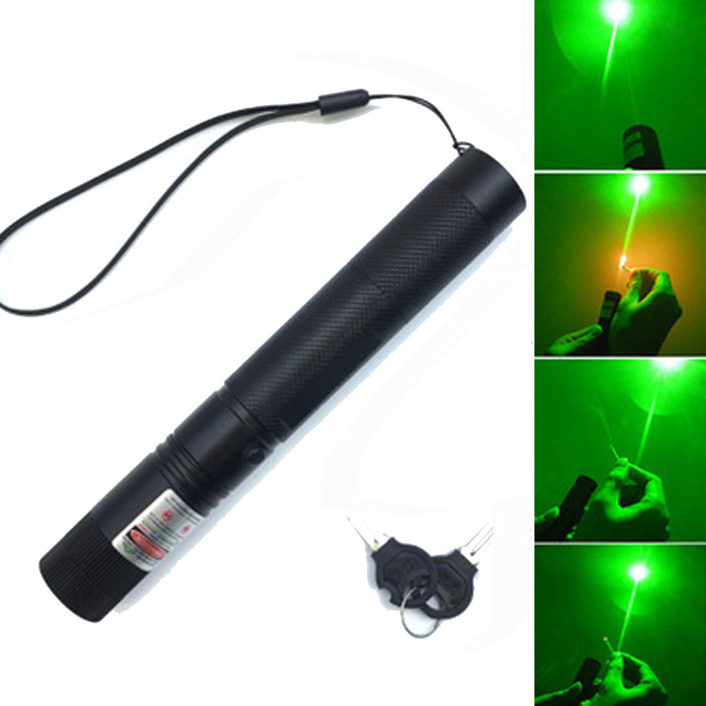 Hunting 532 nm 5mw Green Laser Sight Laser 303 Pointer High Powerful Device Adjustable Focus Lazer Lasers pen Head Burning Match