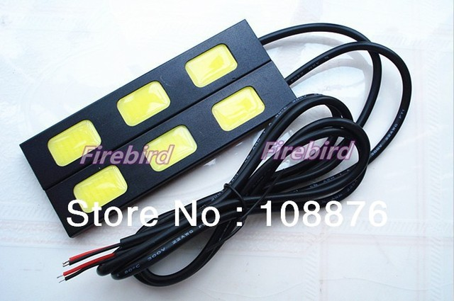 6W 3COB*2 waterproof led DRL daytime running lights, cold white fog lamps, reversing light, free shipping